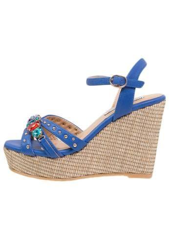 Francesco Milano Sandalias De Cuña Blu sandalias calzado sandalias Milano Francesco CUÑA Blu Noe.Moda