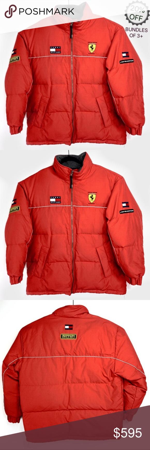 Tommy Hilfiger   Ferrari Puffer Jacket Vintage   L Tommy Hilfiger Ferrari F1 Racing Puffer Jacket Bo...