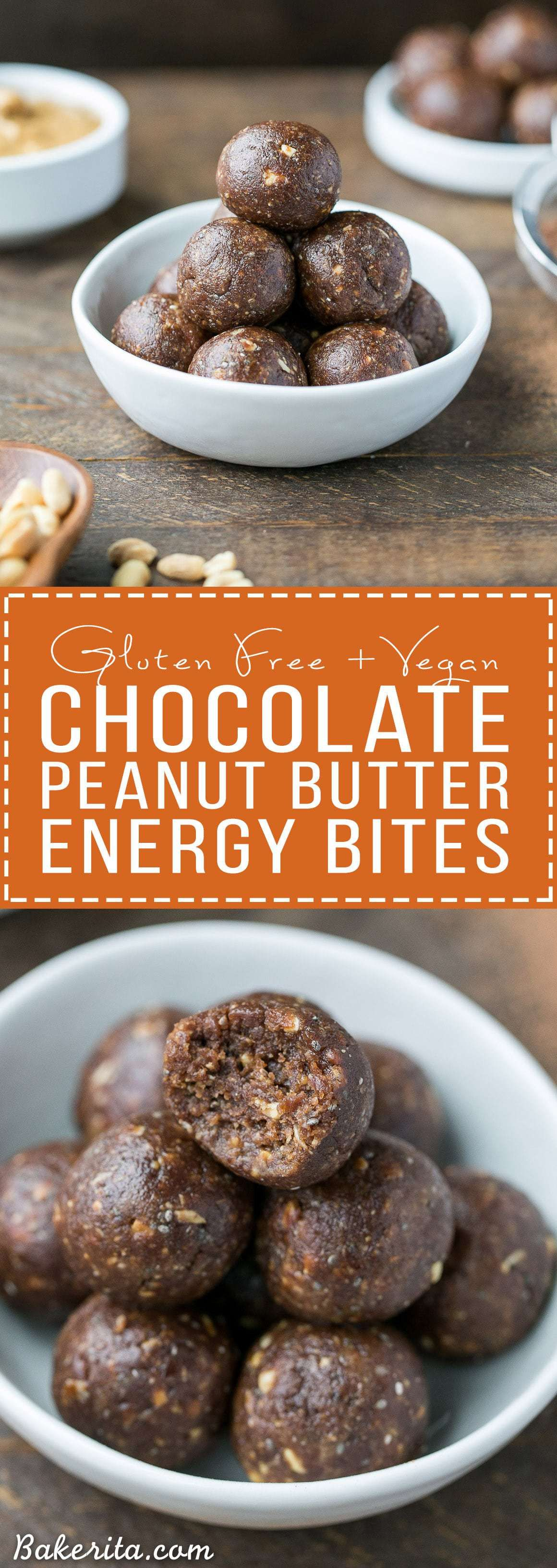 These Chocolate Peanut Butter Energy Bites have just 5 ...