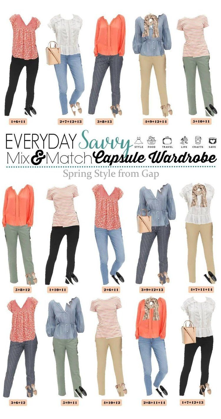 Cute Spring Outfits Capsule Wardrobe - Great for Everyday & Travel These cute spring outfits mix