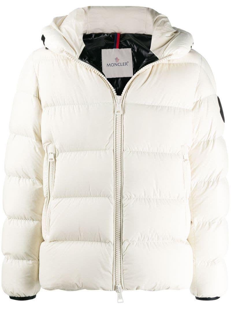 Moncler Logo Hood Puffer Jacket In Neutrals Modesens Moncler Jacket Women Moncler Mens Outdoor Jackets [ 1067 x 800 Pixel ]
