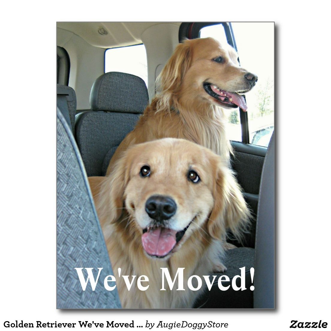 Golden Retriever We Ve Moved Change Of Address Announcement