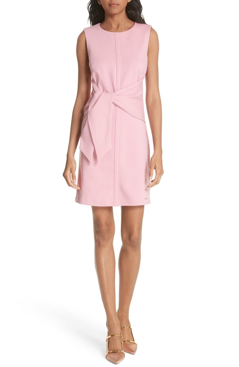 c57d9c0a1 Free shipping and returns on Ted Baker London Papron Tie Front Dress at  Nordstrom.com. Attached ties drape in a luscious twist at the front of a  jewel-neck ...