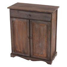Vintage möbel weiss braun  Schrank Kommode, 78x66x33cm, Shabby-Look, Vintage braun | Möbel ...