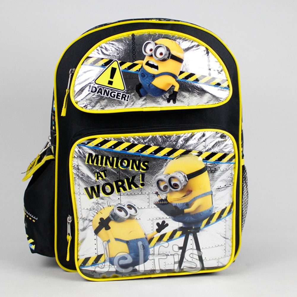 """Despicable Me 2 Minions Large 16/"""" Backpack Book Bag /& Lunch Box"""