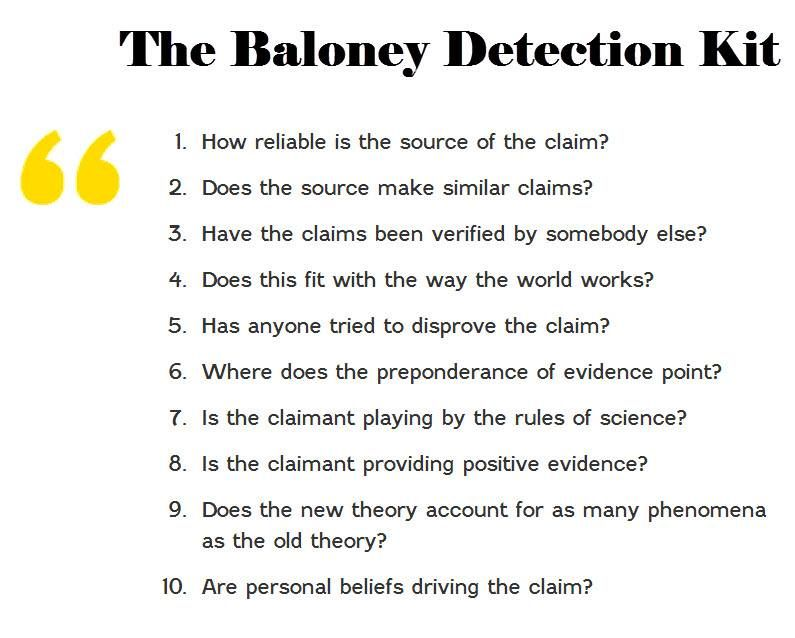 Baloney Detection Kit | Critical thinking, Emotional intelligence ...