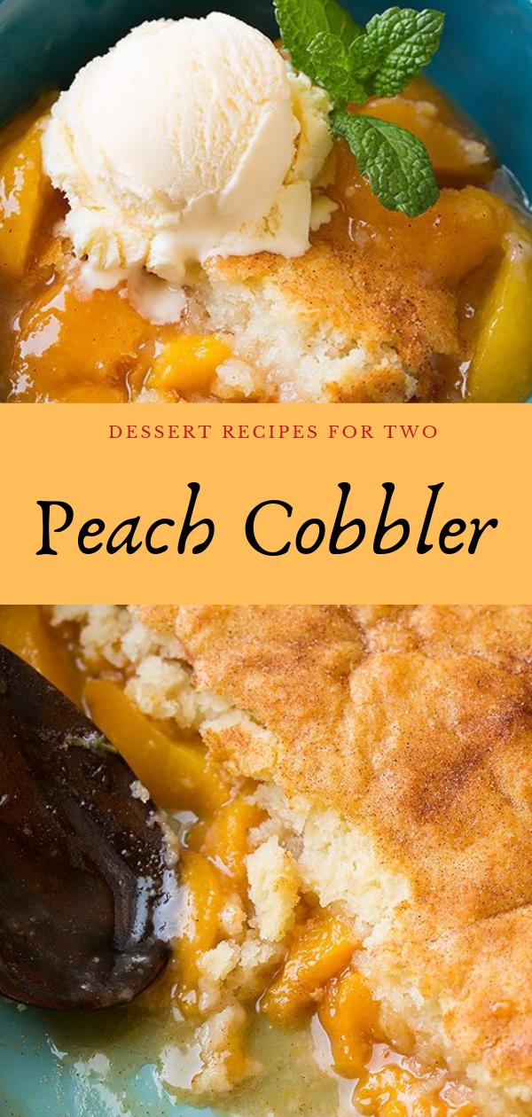 Dessert Recipes For Two #peachcobblercheesecake