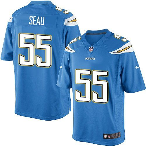 Nike Limited Junior Seau Electric Blue Youth Jersey - Los Angeles Chargers  55  NFL Alternate ab30caa23