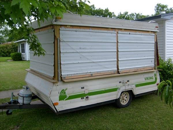 Made From A Pop Up Pop Up Camper Build A Camper Pop Up Trailer