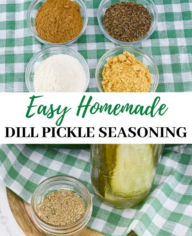 Homemade Dill Pickle Seasoning
