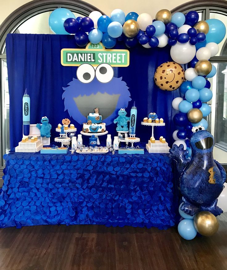 Cookie Monster Birthday Decoration Cookie monster