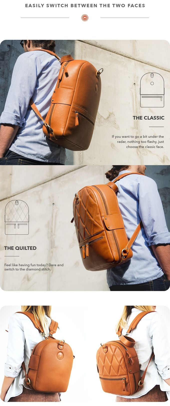 e962d6bb8a The most affordable luxury backpacks! With 2 faces and over 15 features