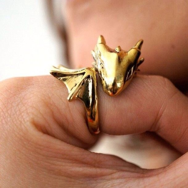 jewels gold dragon game of thrones ring gold ring cool perfect girly