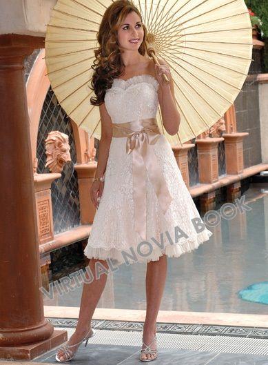 09659c3f64 Vestido de novia corto    Virtual Novia Book