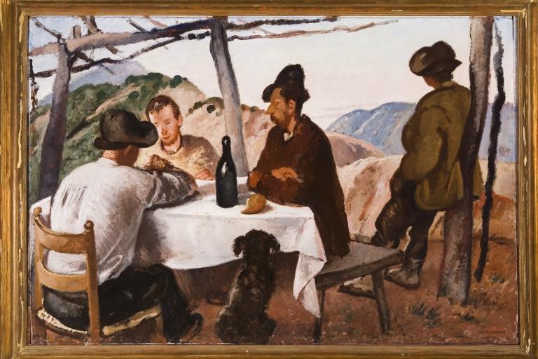 Felice Carena (It, 18791966) La pergola 1928 olio