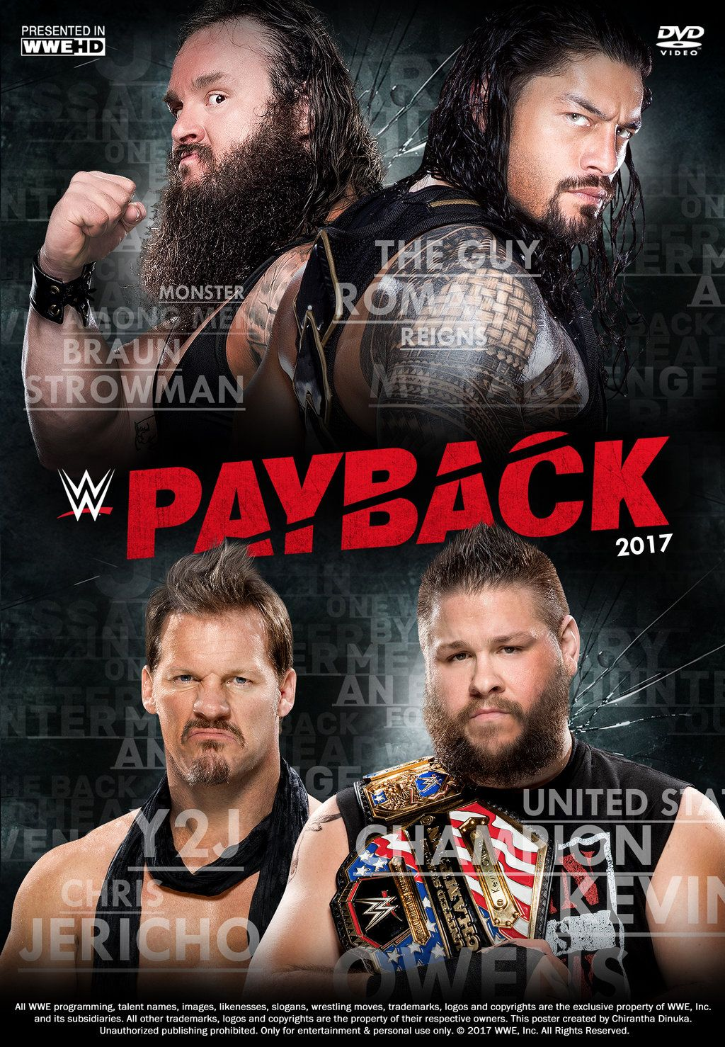 Wwe Payback 2017 Poster By Chirantha Wwe Full Movies Online Free Free Movies Online