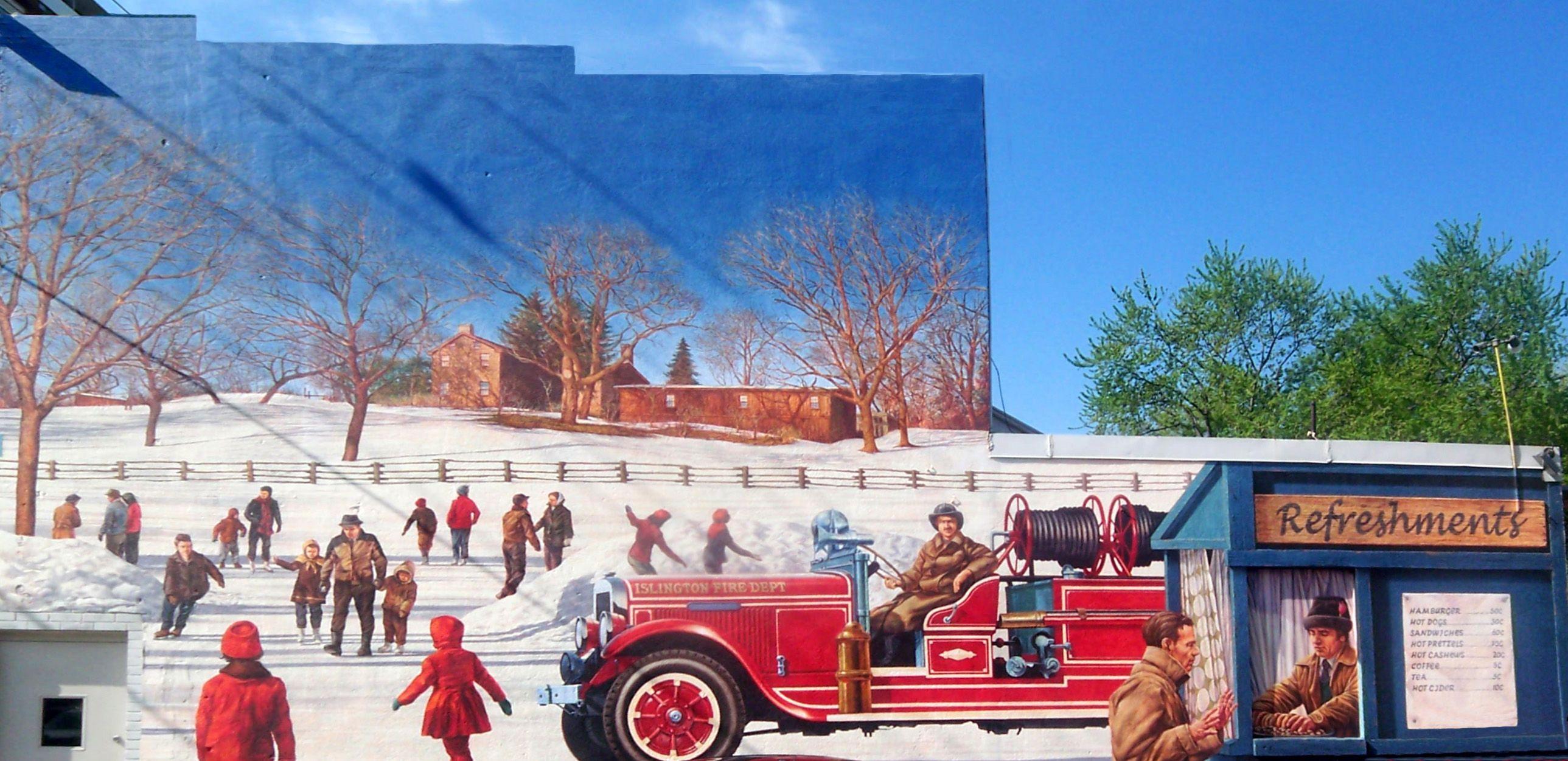 Mural Honouring Islington's Volunteer Fire Brigade - JL