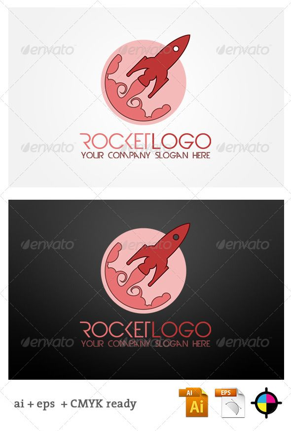 rocket logo template vector eps nasa rocket available here