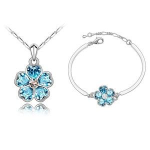 Austrian Crystal Set - Roses ( Navy blue ) 4101