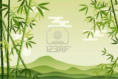 Fondo De Bambu Verde Abstracta Ilustracion Bambu Abstracto Fondos Bosque