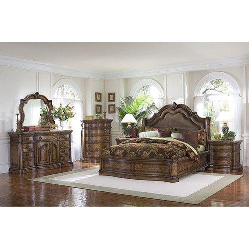 Pulaski San Mateo Panel Customizable Bedroom Set Bedroom Sets Queen King Sleigh Bed Sleigh Beds