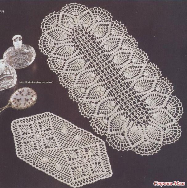 Схемы вязания салфеток крючком для начинающих с описанием Остров 29