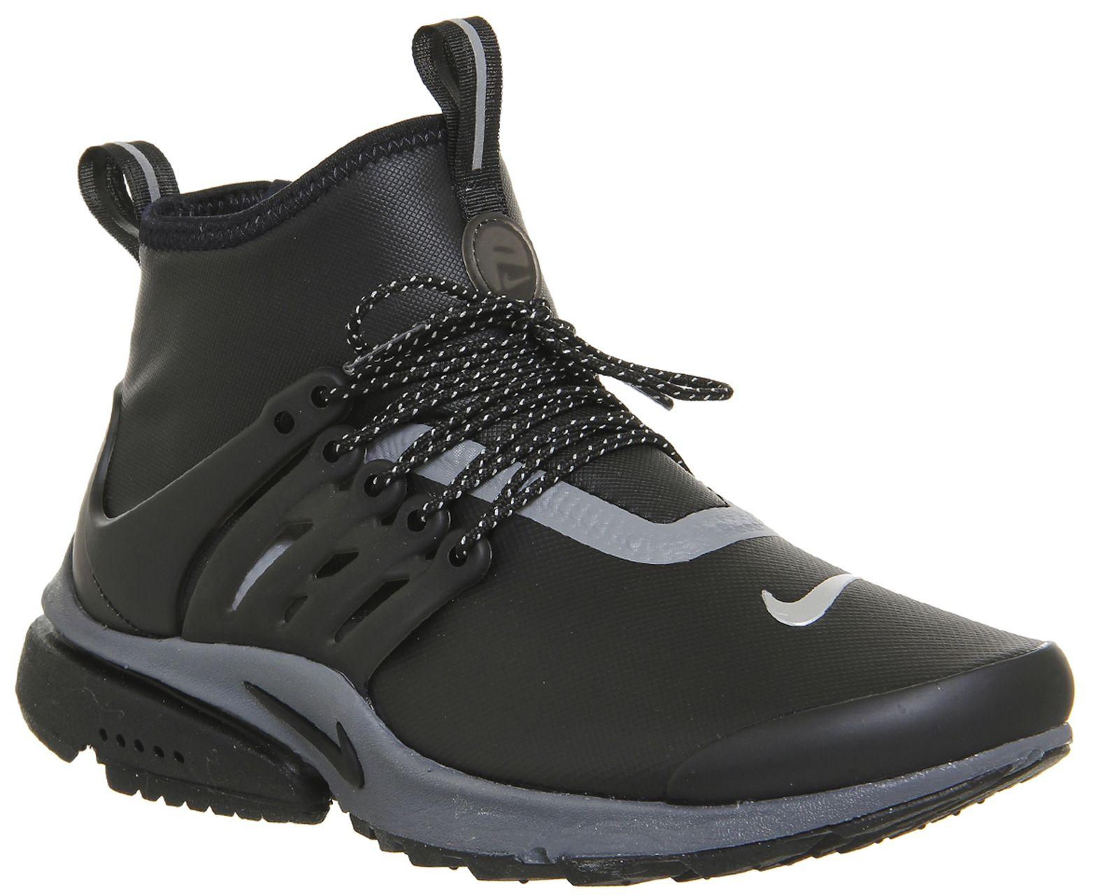 Nike Air Presto Mid Utility Black Black Reflect Silver Nike Air Presto Air Presto Boots