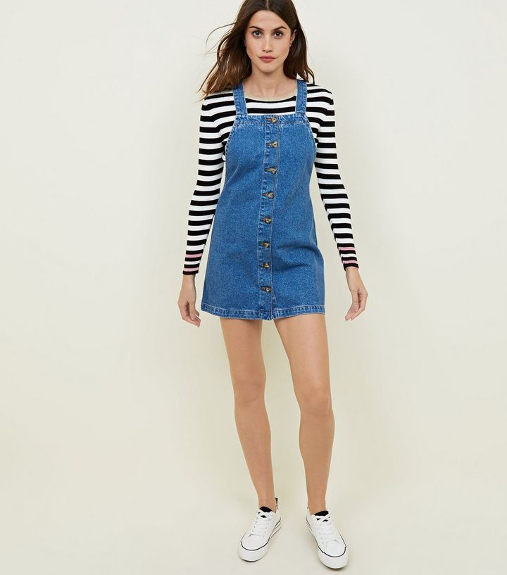 196d24e1f45 Blue Denim Button Through Front Pinafore