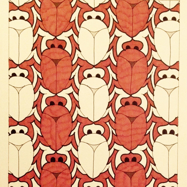 #Escher #Tessellation #Tiling #MC_Escher #Geometry #Symmetry My interpretation of Mc Escher symmetry nr 91