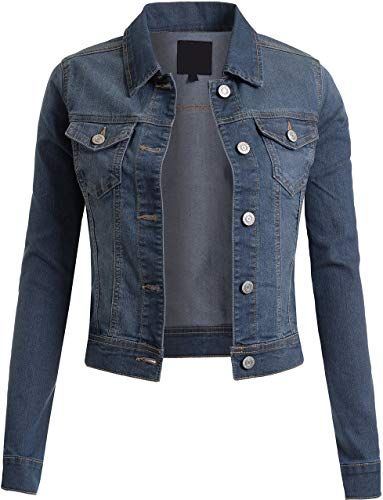 New BEKTOME Womens Classic Casual Vintage Denim Jean Jacket online shopping - Newtoprated #jeanjacketoutfits