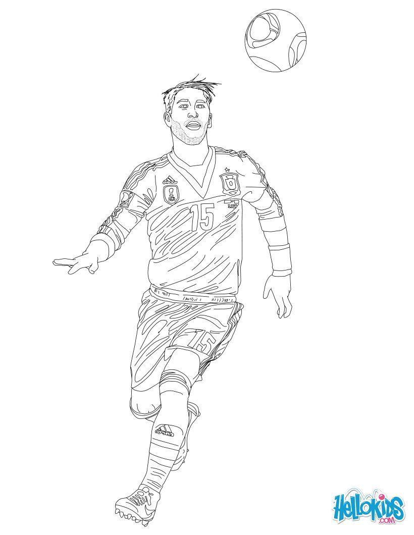 Sergio Ramos Coloring Page