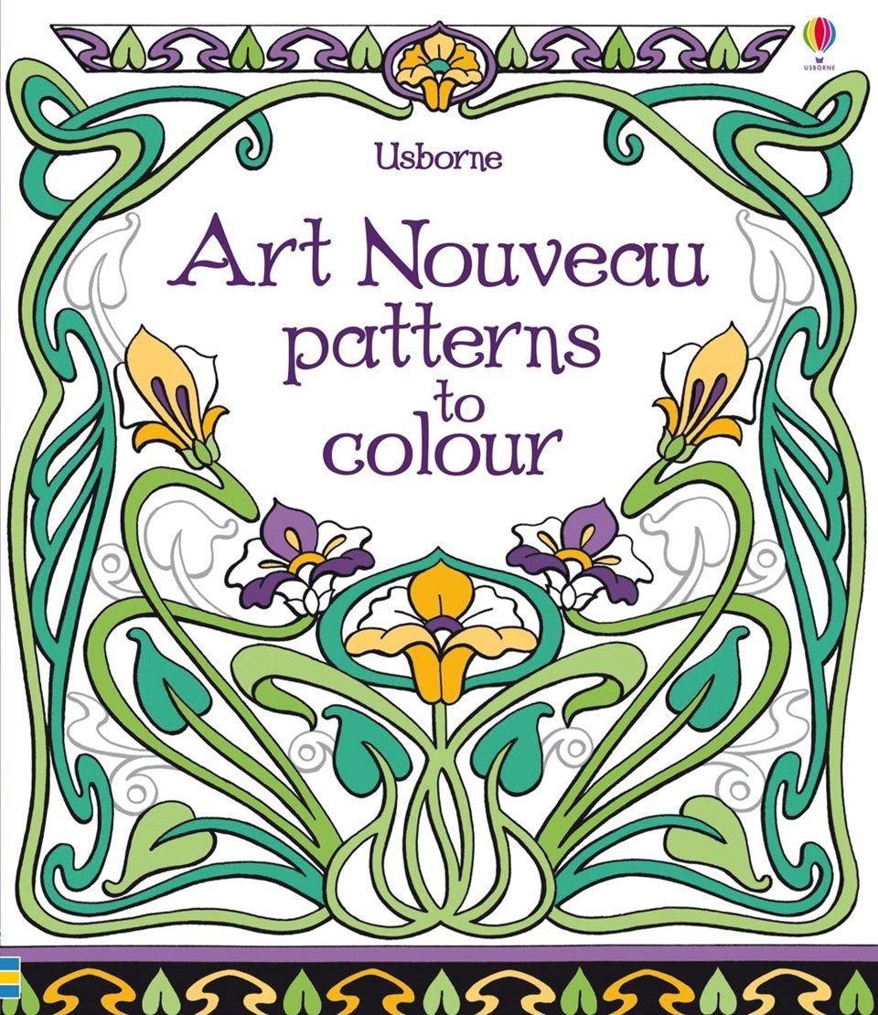 Colour book art - Art Nouveau Patterns To Colour At Usborne Children S Books