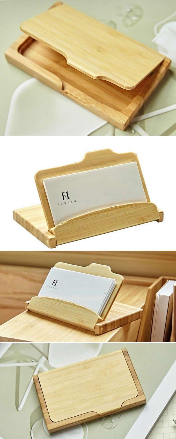 Visitenkartenetui Aus Bambus Aus Bambus Holzmodelle