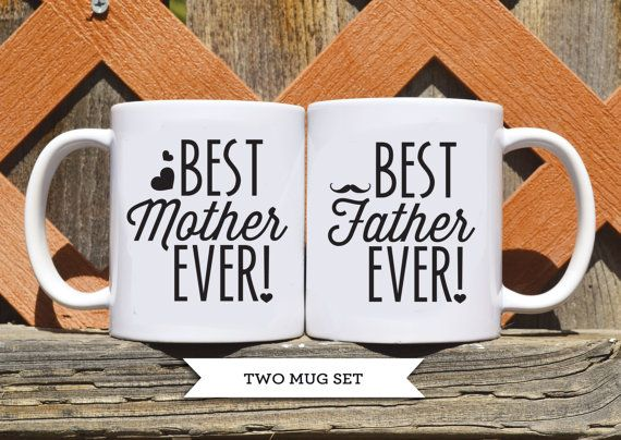 Best Mother Ever & Best Father Ever Ceramic by TickledTealBoutique