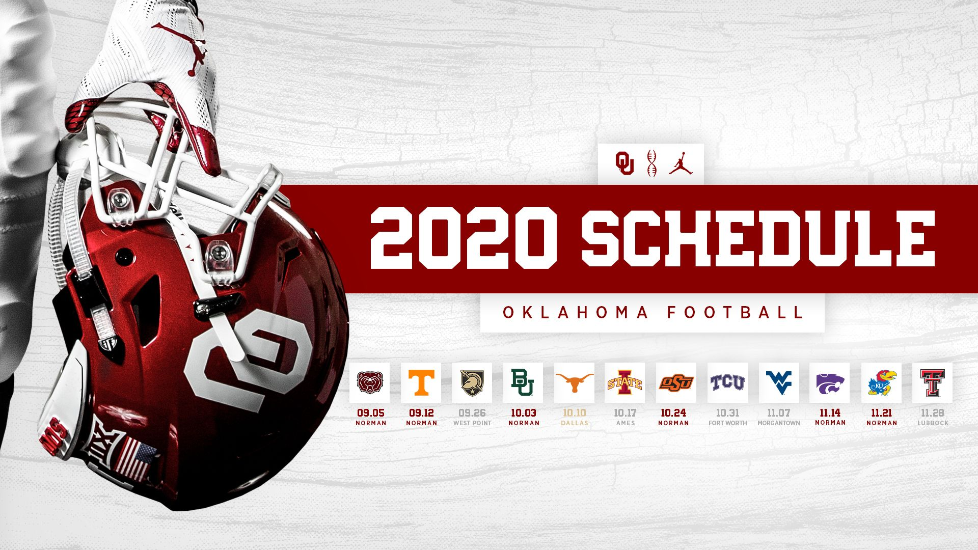 OU's 2020 Football Schedule Announced in 2020 Oklahoma