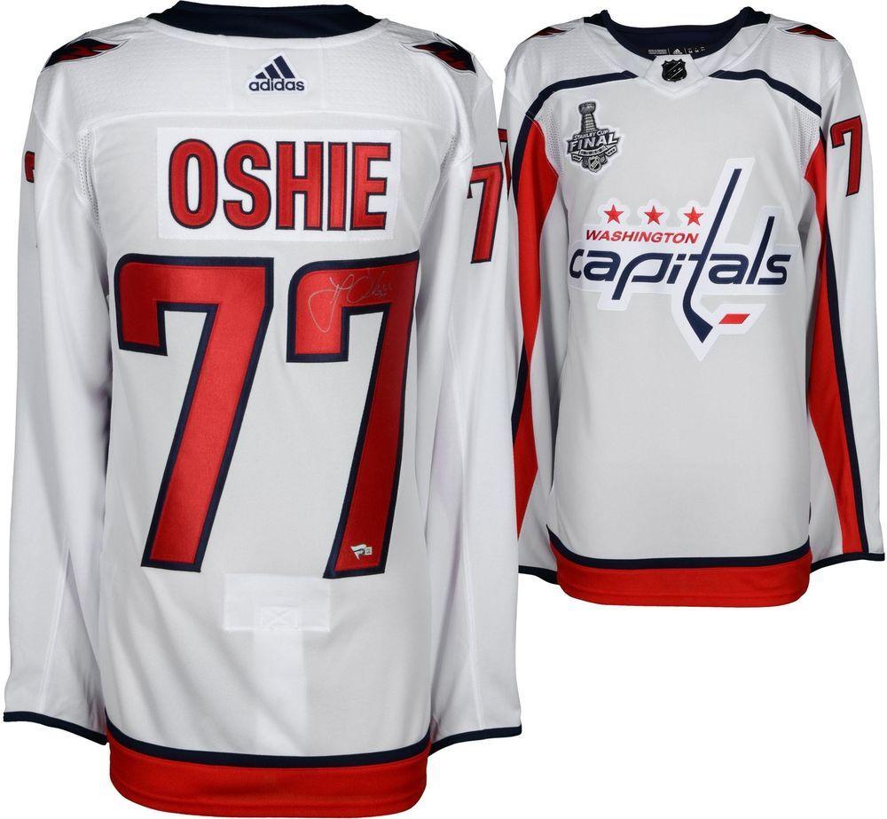 new style b3d81 de0cc Autographed T.J. Oshie Capitals Jersey Fanatics Authentic ...