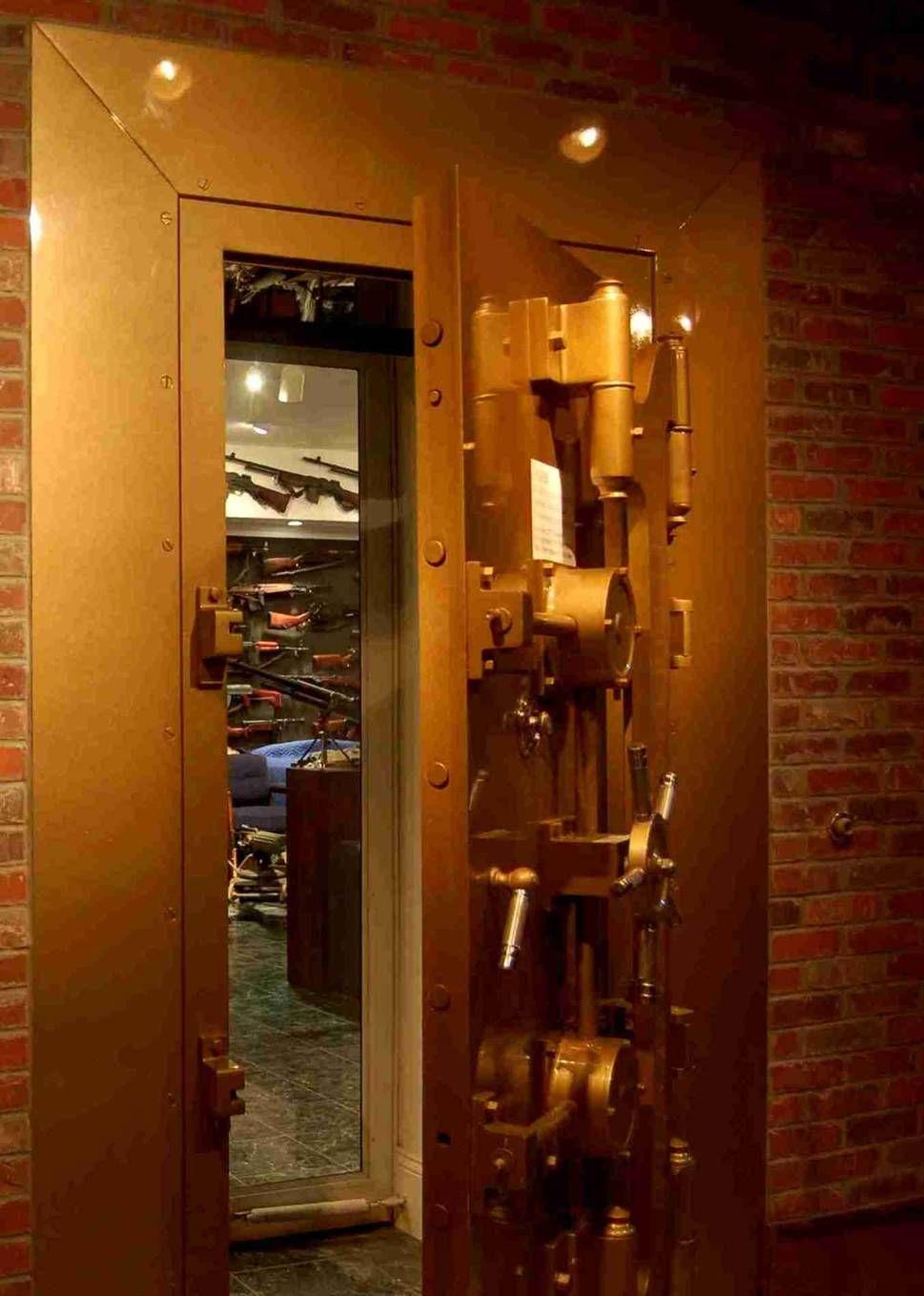 Gun room amp trophy room done hunting - Vault Door To Underground Gun Room Vault