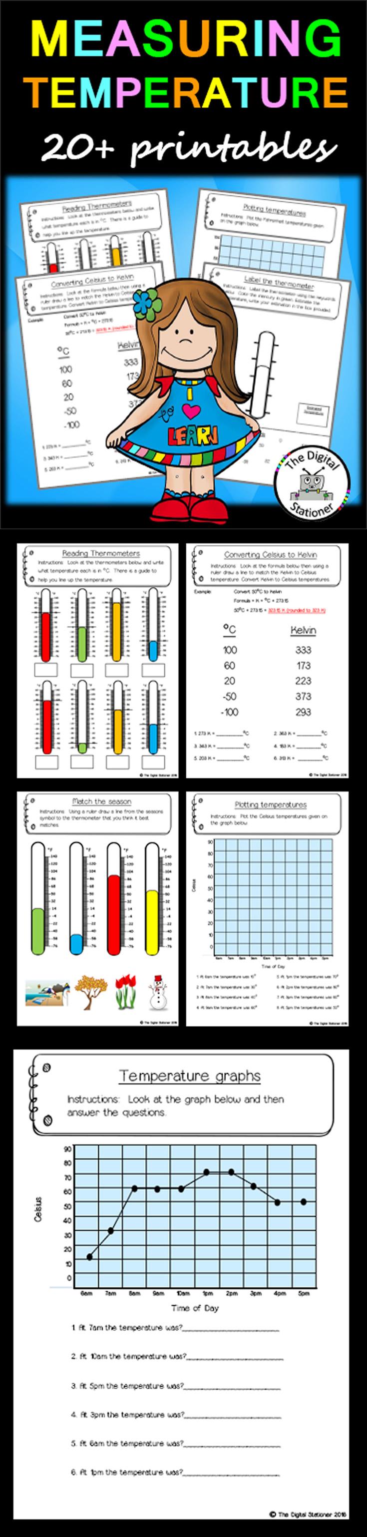 small resolution of Measuring Temperature – 20+ printables (Measurement \u0026 Data)   Homeschool  programs