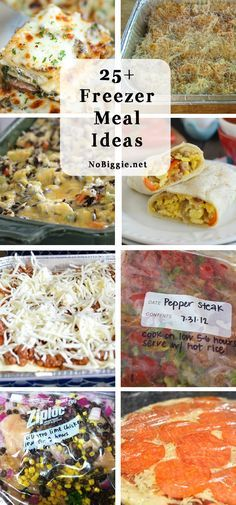 25+ freezer meal ideas   NoBiggie.net