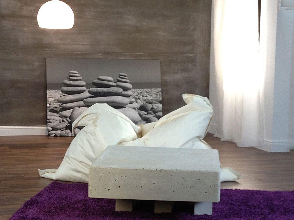 Gestaltungen für modernes Wohnen mit StoneslikeStones RollBeton - wand gestalten mit steinen