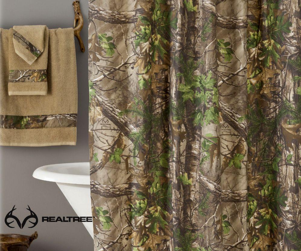 Realtree Xtra Green Shower Curtain Realtreextra