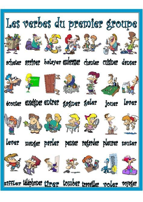 Vocabulaire Les Verbes Du Premier Groupe Ensenanza De Frances French Expressions Clases De Frances