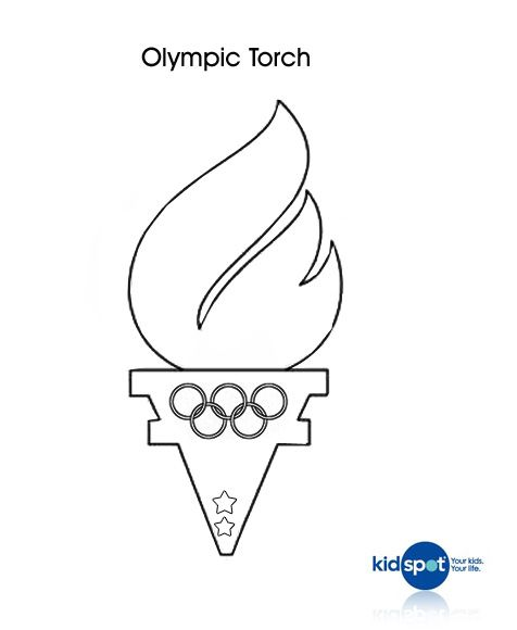 Olympic Torches Colouring Page