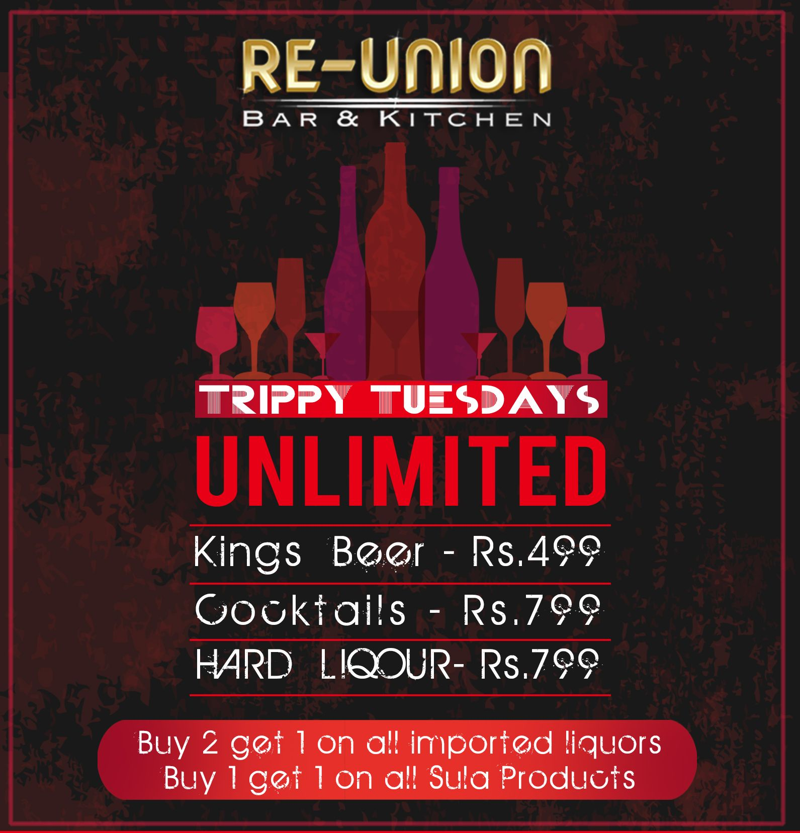 Think No More Just Drop In At Reunion Bar Kitchen And Enjoy Unlimited Drinking Sessions Happy Hours Throughout The Day Un Kitchen Bar Union Bar Liqour