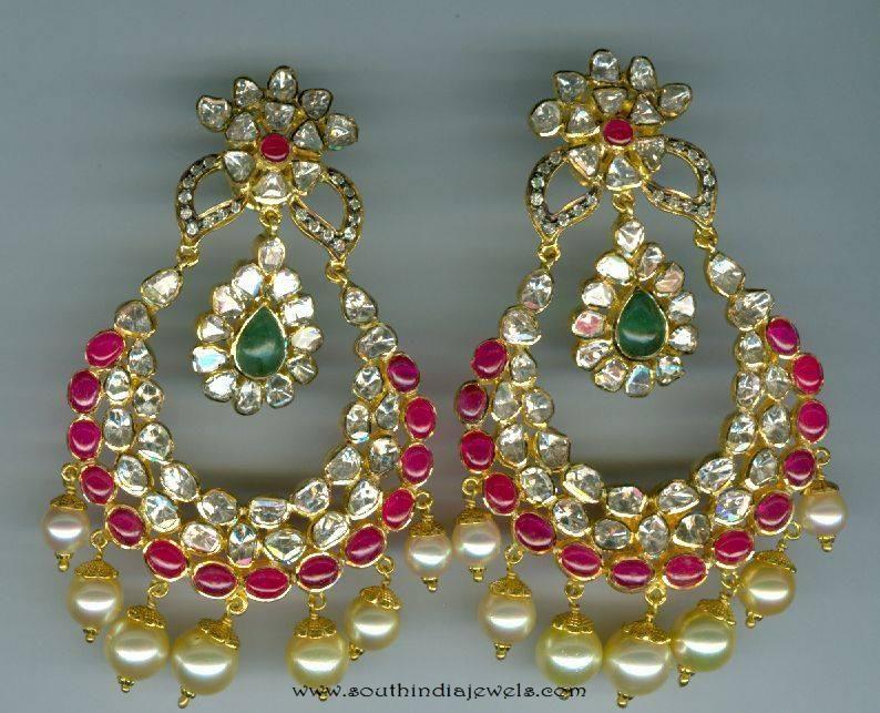 100743bd8 Gold Chandbali Designs, Gold Chandbali Models, Gold Earrings Latest  Collections, Gold Earrings Catalog, Gold pearl Earrings Designs, Gold  Kundan Chandbalis