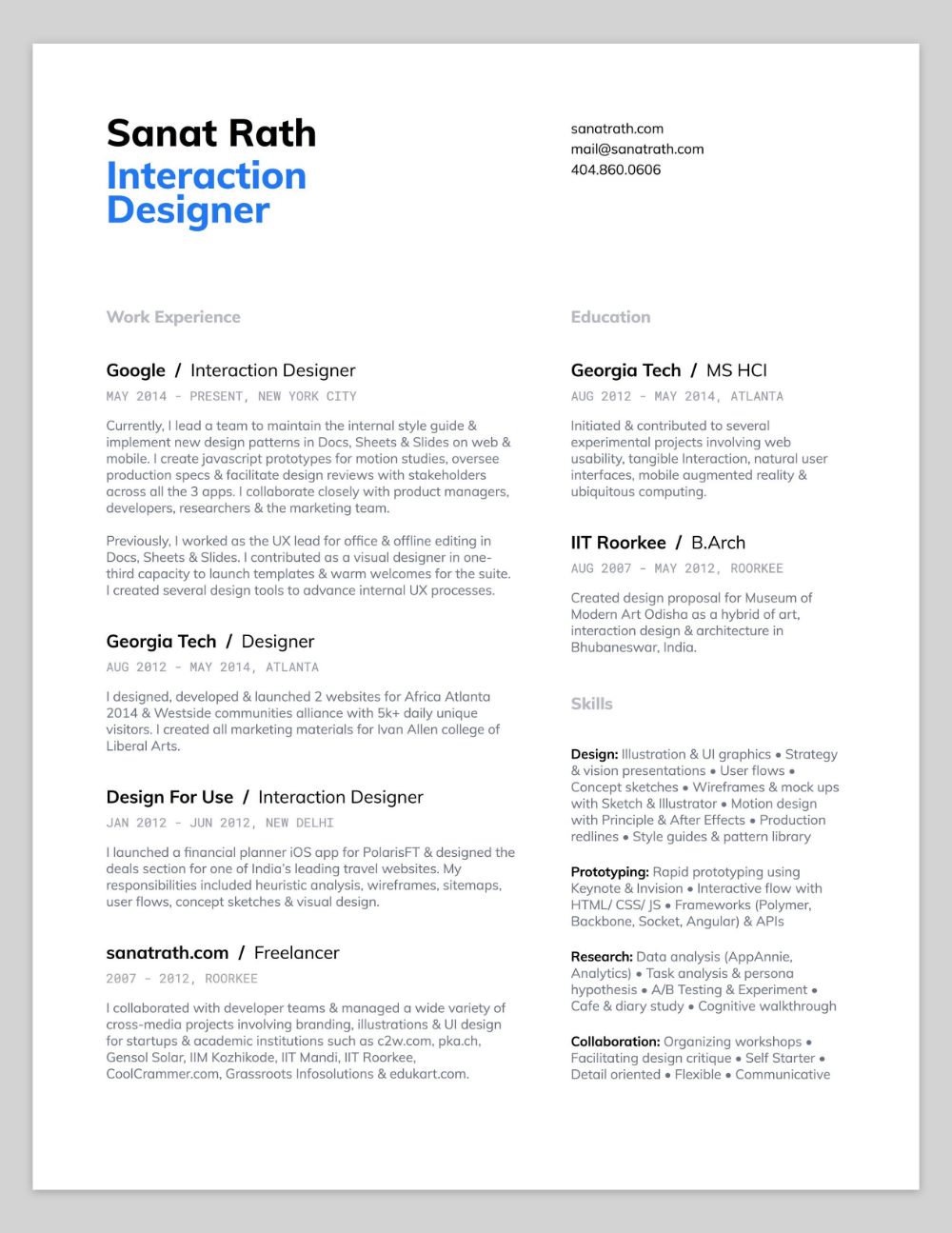10 Amazing Designer Resumes that Passed Google's Bar - Resume design, Resume design creative, Resume layout, Human centered design, Resume design template, Resume - Jihoon is a student at Human Centered Design & Engineering program at University of Washington and former UX intern at Google  Hanna is a Senior UX Designer at Google Play Store team  She previously…