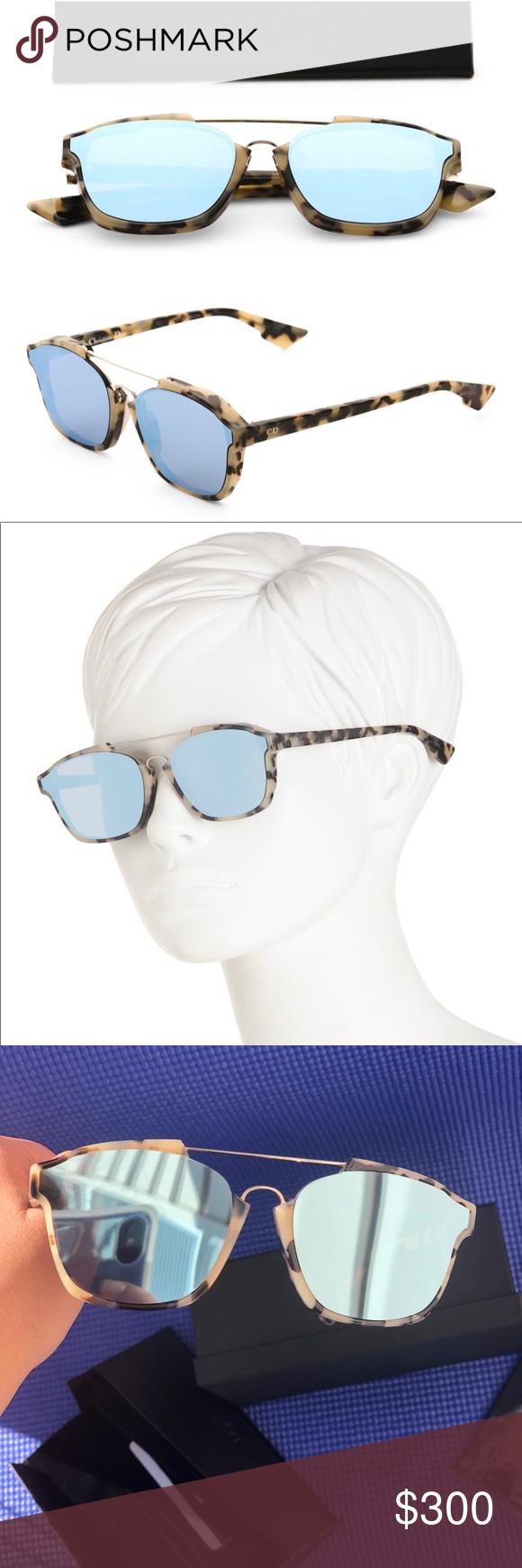 067249e5c4152 Dior Abstract Blue Mirrored Sunglasses A4E A4 58 Brand new 100% Authentic  100% Dior