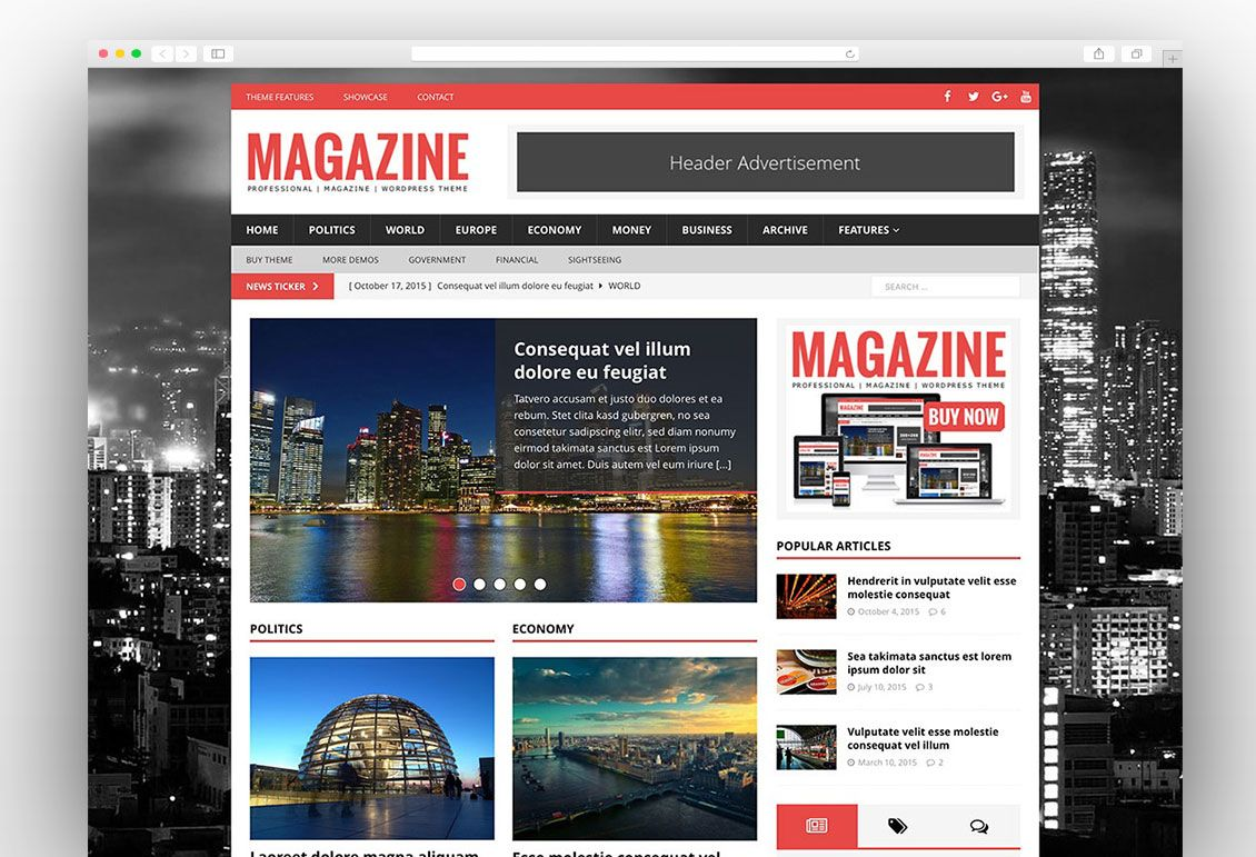 30+ Best News Magazine WordPress Themes 2017 | News WordPress Themes ...