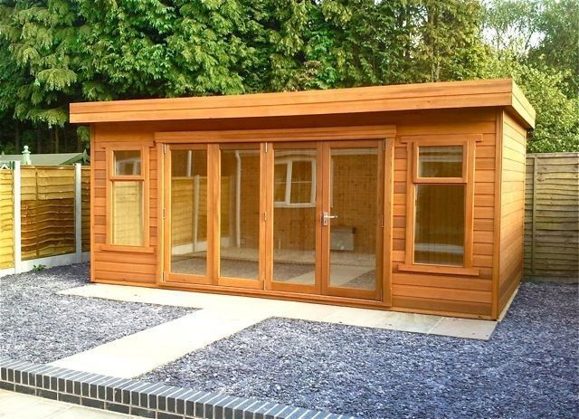 Contemporary Home Office Build A Shed Build Shed Garden Shed