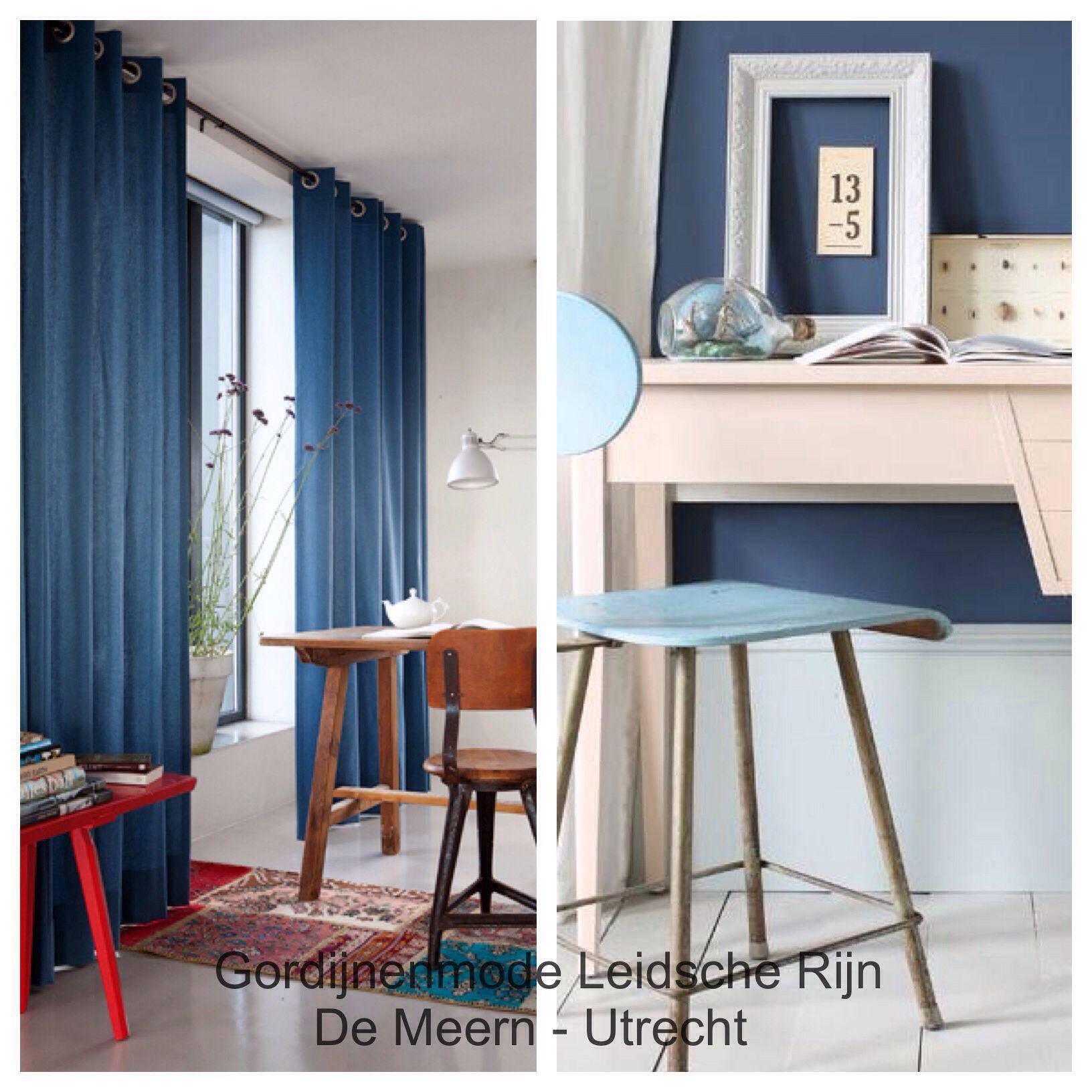 Blauwe #gordijnen | Gordijnen | Pinterest